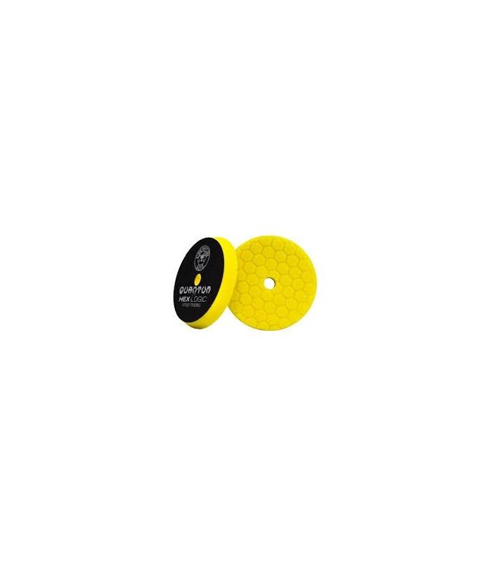 "Chemical Guys Hex Logic Quantum Heavy Cutting Pad yellow 6.5""- burete putere mare de taiere"