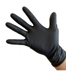 Manusi nitril negre - 1 cutie - 50buc - marime XL