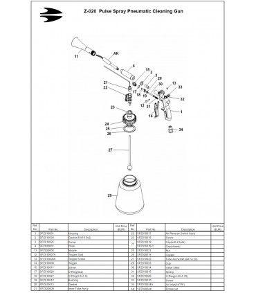 Piese de schimb  pentru Tornador Black z-020
