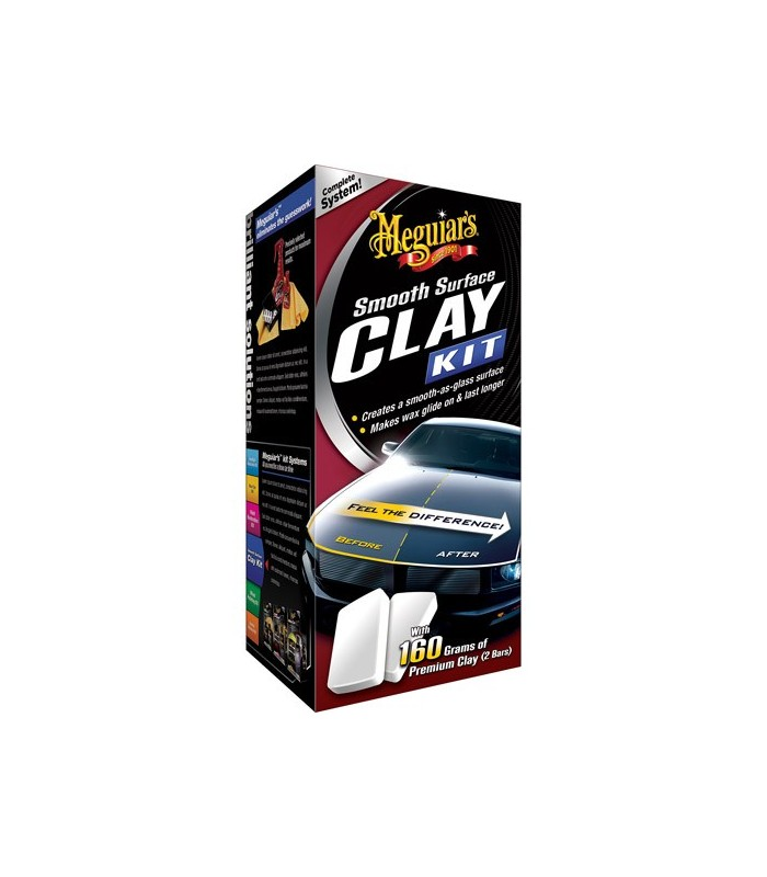 Meguiar's Smooth Surface Clay Kit - Kit decontaminare si protectie vopsea